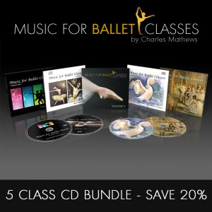 5 CD Class Ballet Class Music Bundle