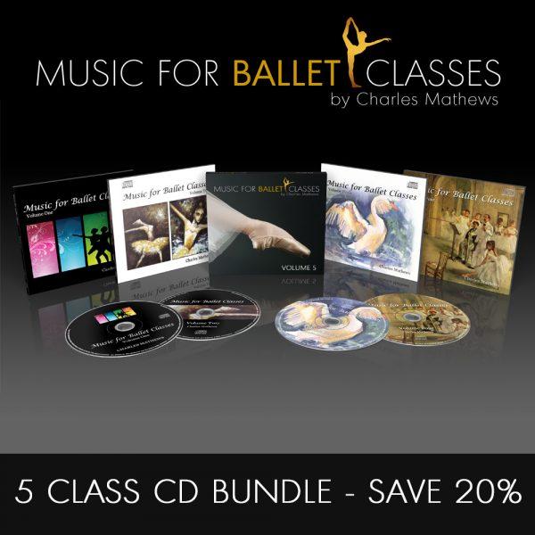 5 CD Class Ballet Class Music Bundle